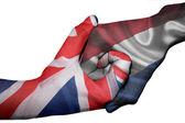 Handshake between United Kingdom and Netherlands — Stock Photo