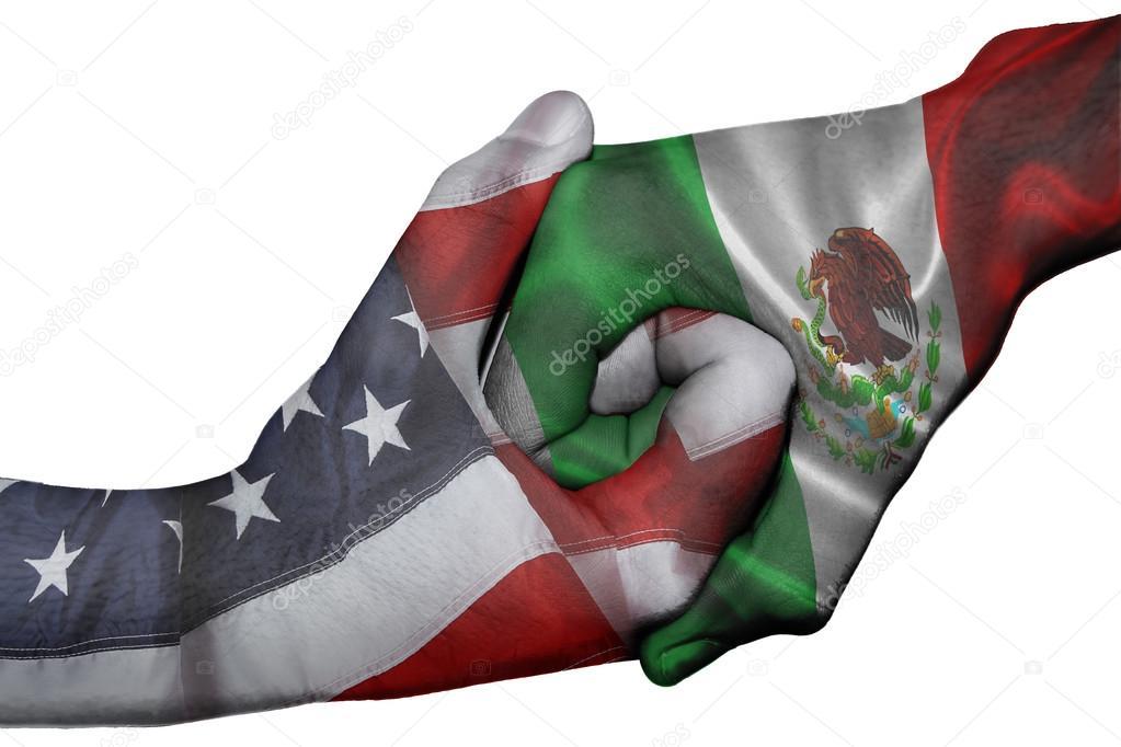 Mexico y Estados Unidos Banderas Banderas de Estados Unidos
