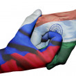 Handshake between Russia and India — Stock Photo #50067619