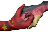 Handshake between China and Germany — Stock Photo