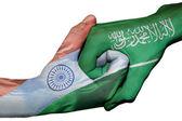 Handshake between India and Saudi Arabia — Stock Photo