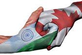Handshake between India and Canada — Stock Photo