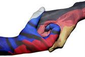 Handshake between Russia and Germany — Stock fotografie