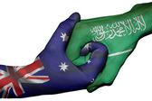 Handshake between Australia and Saudi Arabia — Stock Photo