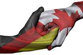 Handshake between Germany and Canada — Stock Photo