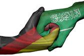 Handshake zwischen Deutschland und Saudi-Arabien — Stockfoto