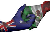 Handshake between Australia and Mexico — Stock Photo