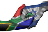 Handshake between South Africa and Israel — Stock Photo