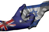Handshake between Australia and Israel — Stock Photo