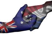 Handshake between Australia and Netherlands — Stock Photo