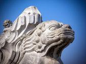 Leão de mármore antigo — Foto Stock