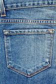 Bolsillo de los pantalones vaqueros. — Foto de Stock