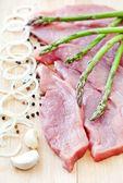 Raw pork steaks — Stock Photo