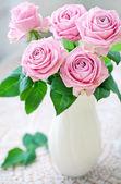 Fresh pink roses — Stock Photo