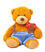 Teddy bear with heart — 图库照片