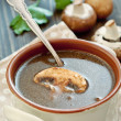 Mushroom soup - Stock Photo