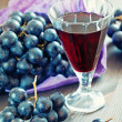 Grapes and  wine — Stock Photo