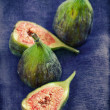 Ripe figs. - Stock Photo