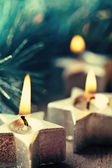Christmas candles. — Stock Photo