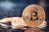 Bitcoins — Stok fotoğraf