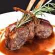 Roasted Lamb Chops - Stock Photo