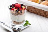 Joghurt mit müsli — Stockfoto
