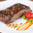Foto Stock: Sirloin steak