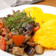 Royalty-Free Stock Photo: Polenta slices with vegetable stew
