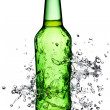 Beer bottle splash — Stock Photo #13361124
