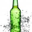 Beer bottle splash — Stock Photo #13361124