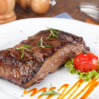 Foto Stock: Grilled sirloin steak