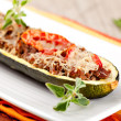 Zucchini halves stuffed with minced meat — Stock Photo #14912719