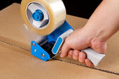 Packaging tape dispenser — Stockfoto