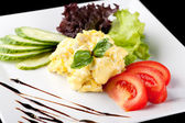 Fresh scrambled eggs — Stock Photo