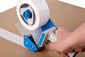 Packaging tape dispenser — Stock Photo