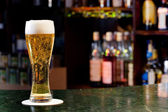 Glass with beer — Stock Photo