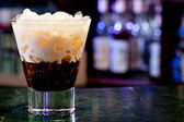 White russian cocktail — Stock Photo