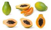 Papaya collection — Stock Photo