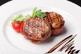 Grilled bbq steak — Stock Photo