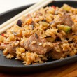 Fried Rice with meat and Vegetables — Stock Photo #21694241