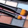 Stock Photo: Brush and eye shadow