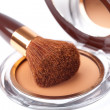 Makeup Powder and Brush — Stock Photo #22818958