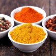 Spices Curry, Peppers Mix and paprika — Stock Photo #23586261