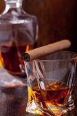 Glass of scotch whiskey — Stock Photo