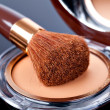 Makeup Powder and Brush — Stock Photo #23926873