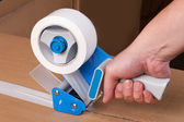 Packaging tape dispenser — Stock fotografie