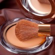 Makeup Powder and Brush — Stock Photo #26221555