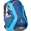 Blue backpack — 图库照片