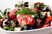 Greek vegetable salad with feta cheese — Stock Photo