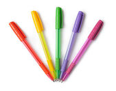 Multi-colored ball pens — Stock Photo